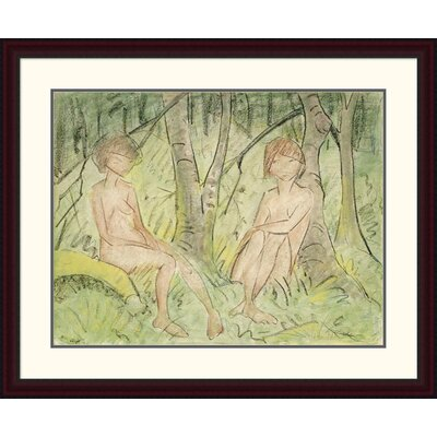 'Two Women in the Forest' by Otto Mueller Framed Painting Print DPF-266922-30-289