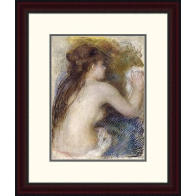 "'Nude Back of a Woman' by Pierre-Auguste Renoir Framed Painting Print Size: 24"" H x 20.03"" W x 1.5"" D DPF-267130-16-289"