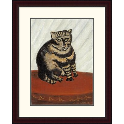 'The Tabby' by Henri Rousseau Framed Painting Print Size: 30