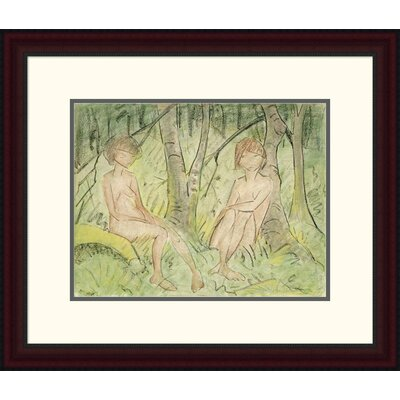 'Two Women in the Forest' by Otto Mueller Framed Painting Print DPF-266922-16-289