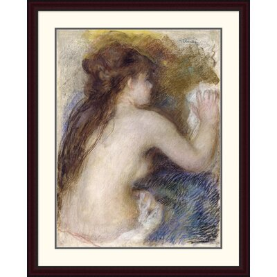 "'Nude Back of a Woman' by Pierre-Auguste Renoir Framed Painting Print Size: 44"" H x 35.07"" W x 1.5"" D DPF-267130-36-289"