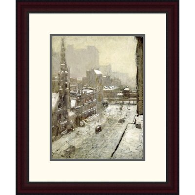'Winter in the City' by Paul Cornoyer Framed Painting Print Size: 24