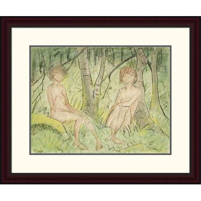 'Two Women in the Forest' by Otto Mueller Framed Painting Print DPF-266922-22-289