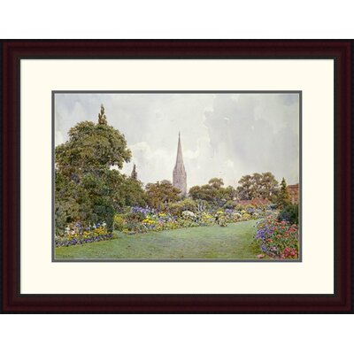 'Mrs. Jacobs Garden' by Ernest Arthur Rowe Framed Painting Print Size: 23