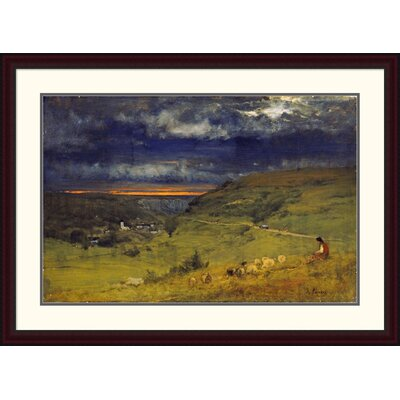 'Sunset at Etretat, Normandy' by George Inness Framed Painting Print Size: 31.76