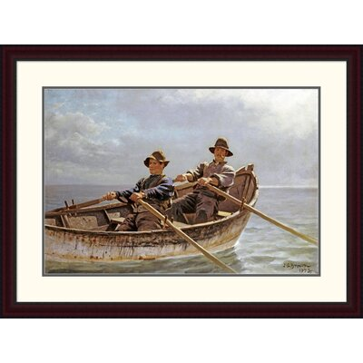 """'Heading Out' by John George Brown Framed Painting Print Size: 28.37"""" H x 38"""" W x 1.5"""" D DPF-267796-30-289"""