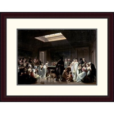 'A Game of Billiards' by Louis Leopold Boilly Framed Painting Print Size: 23.42