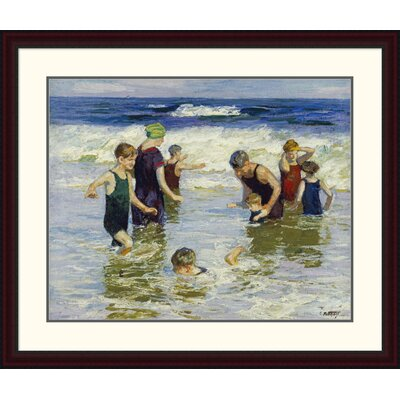 'The Bathers' by Edward Henry Potthast Framed Painting Print DPF-268400-30-289
