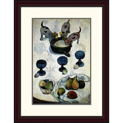 'Still Life with Three Dogs, (Nature Morte Aux Trois Chiots)' by Paul Gauguin Framed Painting Print