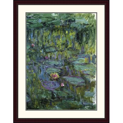 'Water Lilies (Nymphéas) XI' by Claude Monet Framed Painting Print Size: 44