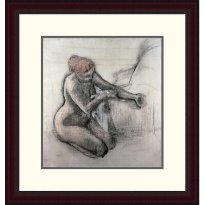 'Nude Woman Drying Herself after the Bath' by Edgar Degas Framed Painting Print DPF-277331-16-289