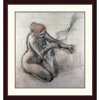 'Nude Woman Drying Herself after the Bath' by Edgar Degas Framed Painting Print DPF-277331-30-289