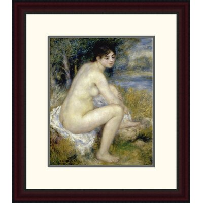 "'Nude Woman Seated in a Landscape' by Pierre-Auguste Renoir Framed Painting Print Size: 24"" H x 20.89"" W x 1.5"" D DPF-279659-16-289"