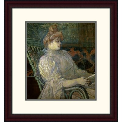 'Woman Reading (Femme Lisant)' by Henri Toulouse-Lautrec Framed Painting Print DPF-278197-16-289