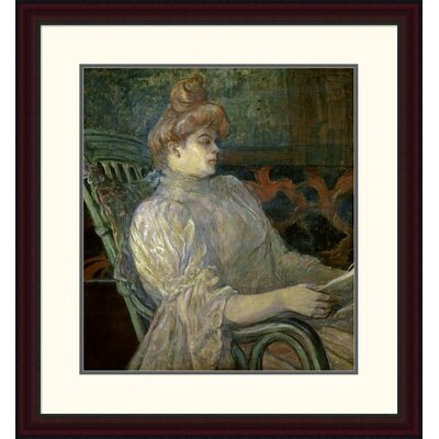 'Woman Reading (Femme Lisant)' by Henri Toulouse-Lautrec Framed Painting Print DPF-278197-22-289