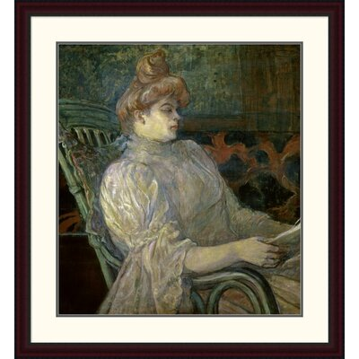 'Woman Reading (Femme Lisant)' by Henri Toulouse-Lautrec Framed Painting Print DPF-278197-30-289