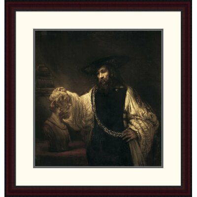 'Aristotle with a Bust of Homer' by Rembrandt Van Rijn Framed Painting Print Size: 30