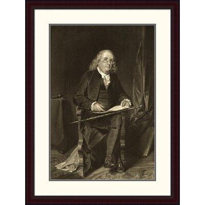 Benjamin Franklin (1706-1790) Framed Painting Print DPF-280688-30-289