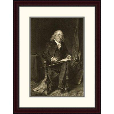 Benjamin Franklin (1706-1790) Framed Painting Print DPF-280688-22-289