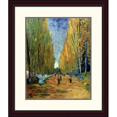 'Allee des Alyscamps' by Vincent Van Gogh Framed Painting Print Size: 30