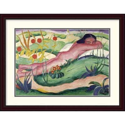'Nude Lying in The Flowers' by Franz Marc Framed Painting Print DPF-265157-30-289