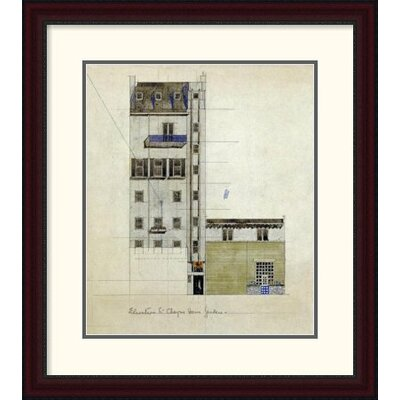 "'London, Elevation of Proposed Studio, 1920' by Charles Rennie Mackintosh Framed Painting Print Size: 30"" H x 26.58"" W x 1.5"" D DPF-266806-22-289"