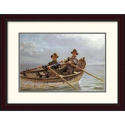 """'Heading Out' by John George Brown Framed Painting Print Size: 22.94"""" H x 30"""" W x 1.5"""" D DPF-267796-22-289"""
