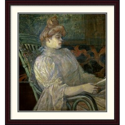 'Woman Reading (Femme Lisant)' by Henri Toulouse-Lautrec Framed Painting Print DPF-278197-36-289