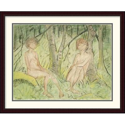 'Two Women in the Forest' by Otto Mueller Framed Painting Print DPF-266922-36-289