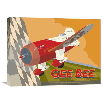 'Gee Bee' by David Grandin Vintage Advertisement on Wrapped Canvas Size: 18