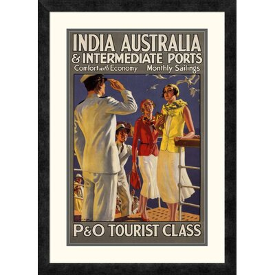 "'India Australia and Intermediate Ports / P and O' by Michael Framed Vintage Advertisement Size: 28"" H x 20.12"" W x 1.5"" D DPF-295869-22-119"