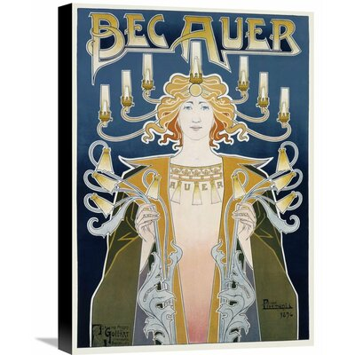 'Bec Auer' by Privat Livemont Vintage Advertisement on Wrapped Canvas Size: 22