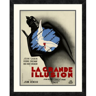 'La Grande Illusion' by Bernard Lancy Framed Vintage Advertisement DPF-295913-22-119
