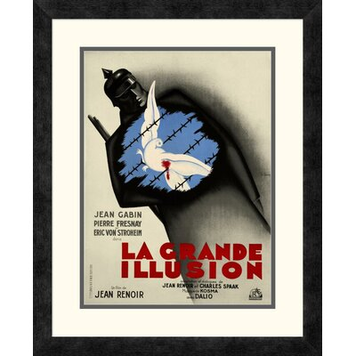 'La Grande Illusion' by Bernard Lancy Framed Vintage Advertisement DPF-295913-16-119