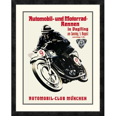 'Automobile and Motorcycle Race - Munich' Framed Vintage Advertisement DPF-382181-1824-119