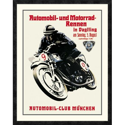 'Automobile and Motorcycle Race - Munich' Framed Vintage Advertisement DPF-382181-2432-119