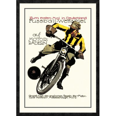 'Soccer on Motorcycle' Framed Vintage Advertisement DPF-382191-2436-119