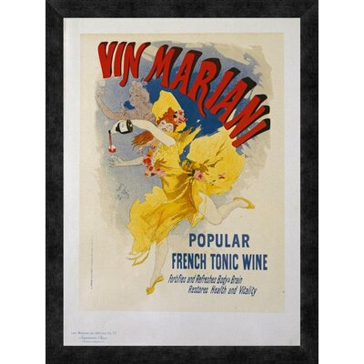 'Vin Mariani' by Jules Cheret Framed Vintage Advertisement Size: 24