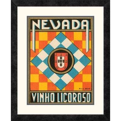 'Nevada Vinho Licorso' Framed Vintage Advertisement Size: 22