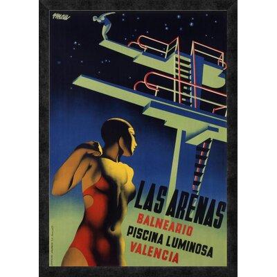 'Las Arenas' by Josep Renau-Montoro Framed Vintage Advertisement Size: 32