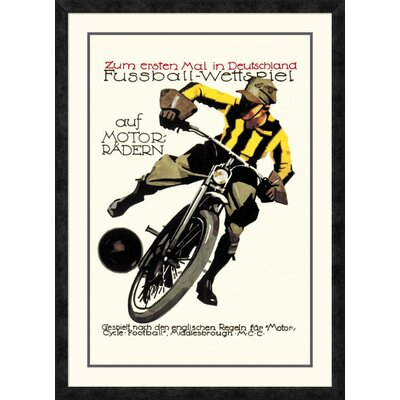 'Soccer on Motorcycle' Framed Vintage Advertisement DPF-382191-2030-119