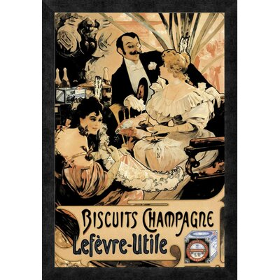'Biscuits Champagne' Framed Vintage Advertisement GCF-342880-1624-299