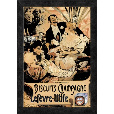 'Biscuits Champagne' Framed Vintage Advertisement GCF-342880-1218-299