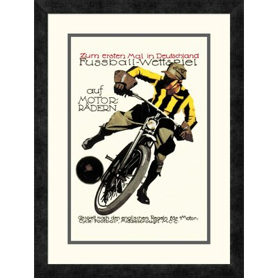 'Soccer on Motorcycle' Framed Vintage Advertisement DPF-382191-1218-119