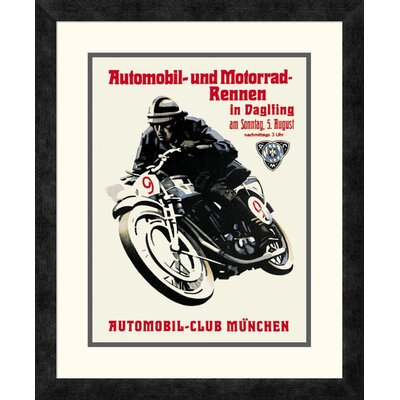 'Automobile and Motorcycle Race - Munich' Framed Vintage Advertisement DPF-382181-1216-119