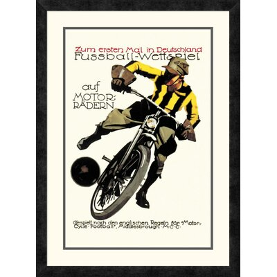 'Soccer on Motorcycle' Framed Vintage Advertisement DPF-382191-1624-119