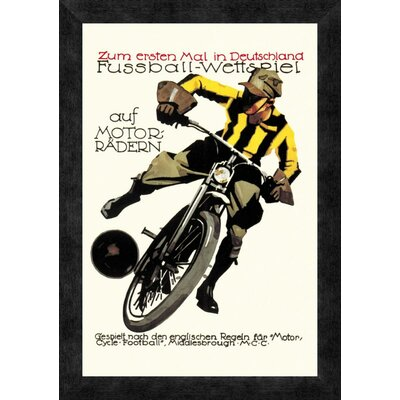 'Soccer on Motorcycle' Framed Vintage Advertisement GCF-382191-1218-299