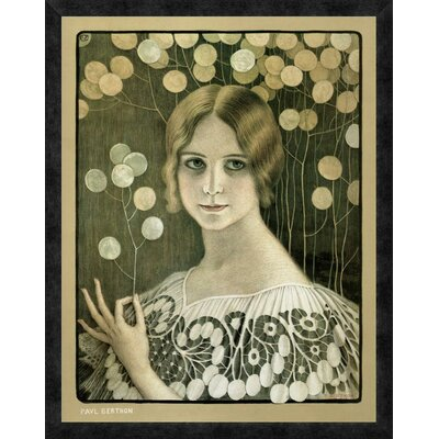 'Lace' by Paul Berthon Framed Vintage Advertisement Size: 32