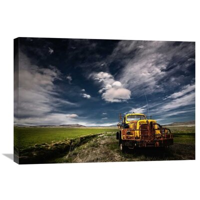'Yellow Truck' by Thorsteinn H. Ingibergsson Photographic Print on Wrapped Canvas GCS-462144-30-142