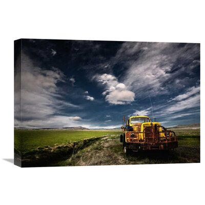 'Yellow Truck' by Thorsteinn H. Ingibergsson Photographic Print on Wrapped Canvas GCS-462144-22-142